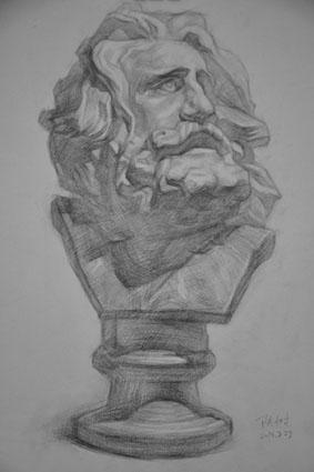 石膏素描《马赛》